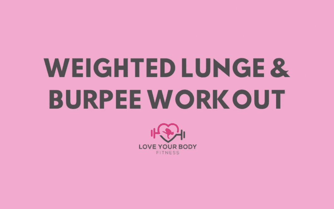 Weighted Lunge & Burpee Workout